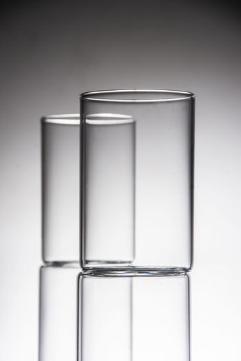 Close-up of glass against white background