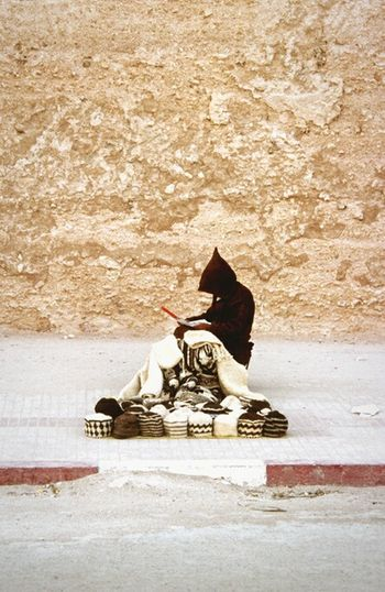 Morocco Morroco Morrocan Berba Man Hats Traditional Street Pavement Roadside Alone North Africa Africa Travel Photography Travel Muslim Sitting Essaouira Traditional Clothing Traditional Culture