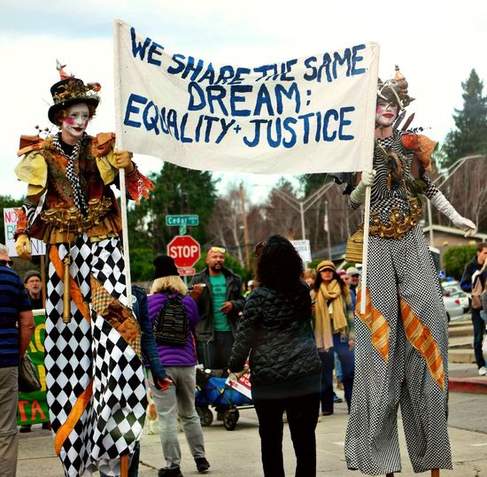 Martin Luther king Jr parade Stilts Costumes MLK Day Mlk Parade Walking Day Outdoors Young Adult City People Adult