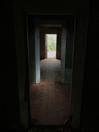 Entrance of dark room