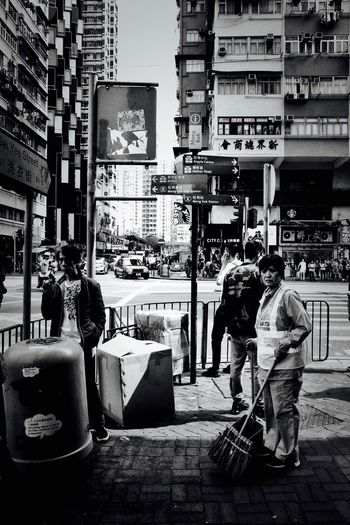 Ricoh GRlll HongKong Full Length Built Structure Real People Architecture Occupation City Rear View Street Working Building Exterior Lifestyles Outdoors Men Day People Two People City Life Adult Standing My Best Photo