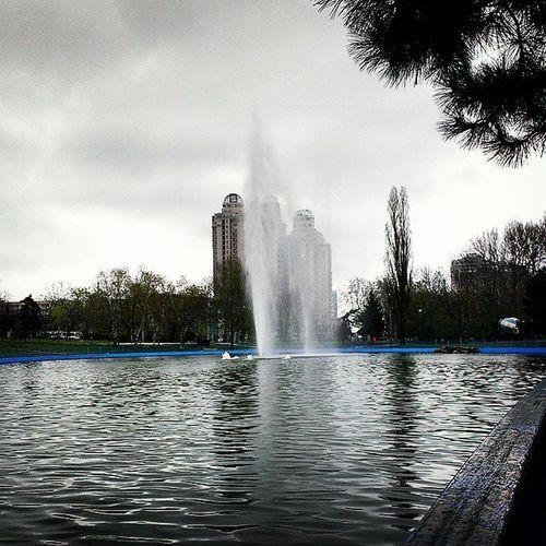 Odessagram паркпобеды фонтан Угрюмое утро