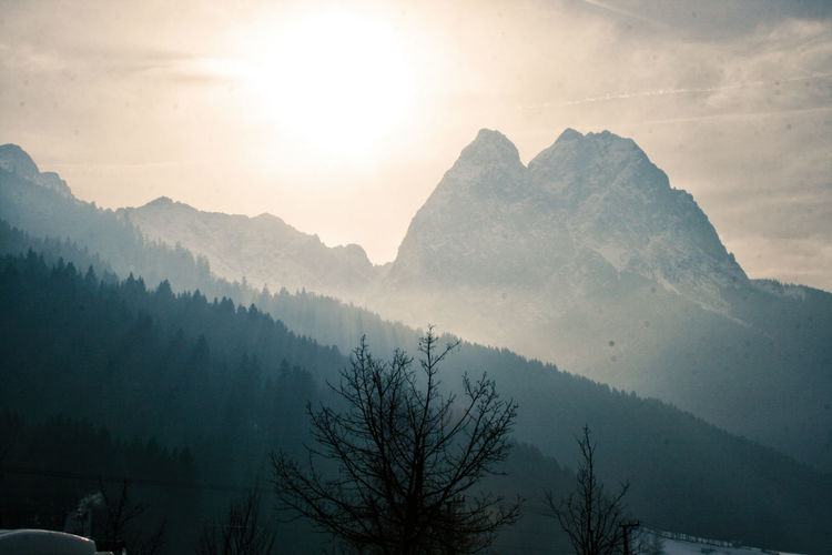 Alpen Alps Alpspix Beauty In Nature Day Fog Landscape Mountain Mountain Range Nature No People Outdoors Scenics Sky Snow Sunset Tree Mountain_collection Sunflare Cold Temperature Sunset_collection Fog_collection National Geographic Winter Wonderland Cold Winter ❄⛄ The Great Outdoors - 2017 EyeEm Awards