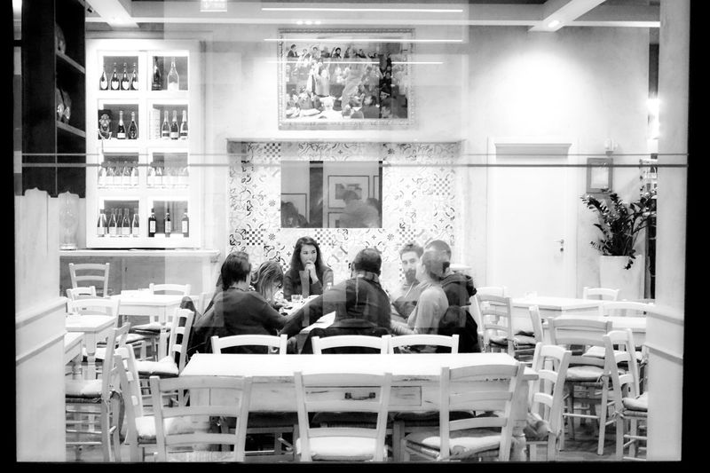Indoors  Real People People Reflections Streetphotography Street Photography Streetphoto_bw Young Adult City Life Cafeteria Blackandwhite Black And White Black & White Urban Lifestyle Urban Living