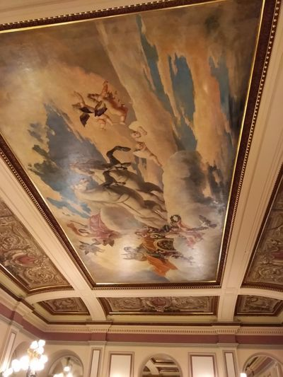 Indoors  Architecture Art And Craft Human Representation No People Low Angle View Built Structure Representation Ceiling Male Likeness Paint Paintings Creativity Mural Female Likeness Craft History Building The Past Wall - Building Feature Floral Pattern Nokosmetics
