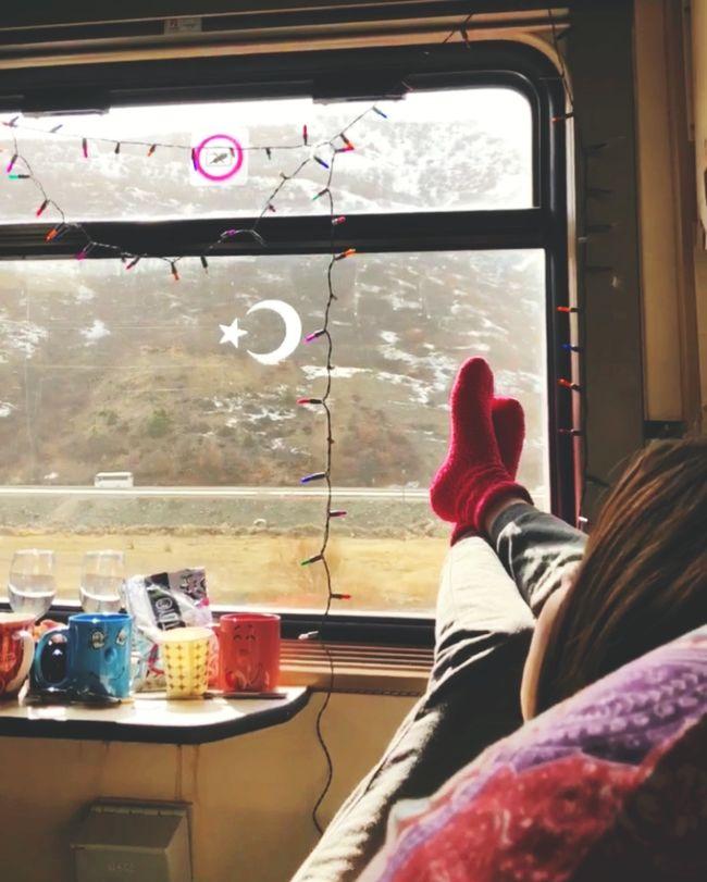 Turkey Kars Doğu Ekspresi Sun Tranquility Silence Winter Travel Cold Holiday Train Trip Photo Photography EyeEm Train Window Lifestyles