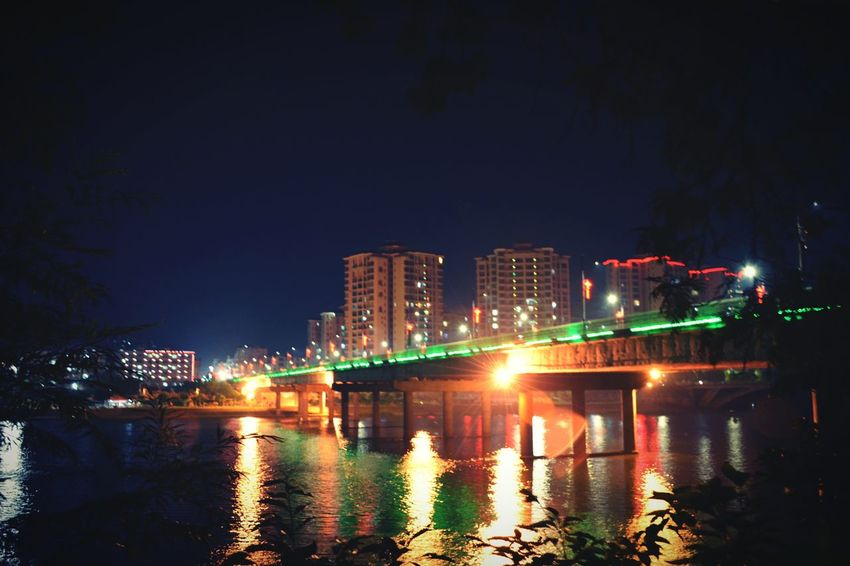Bridge Bridges Bridge View Nature Light Lights River Riverside River View Buildings At Night This Night In The Evening Colour Of Life