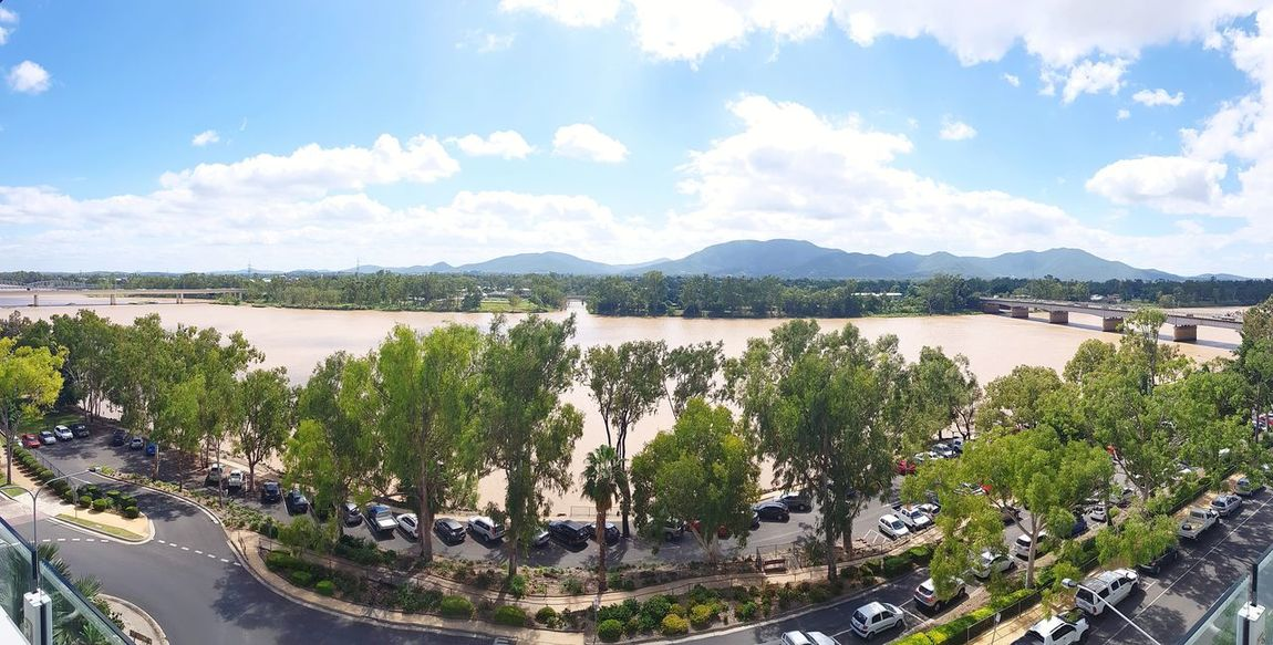 Beef Capital Of Australia #Rockhampton #Queensland River Riverside Riverbank Tree City Water Sea Cityscape Sky Cloud - Sky Mountain Range Mountain Housing Settlement TOWNSCAPE Rooftop Town Residential Structure Scenics Panoramic