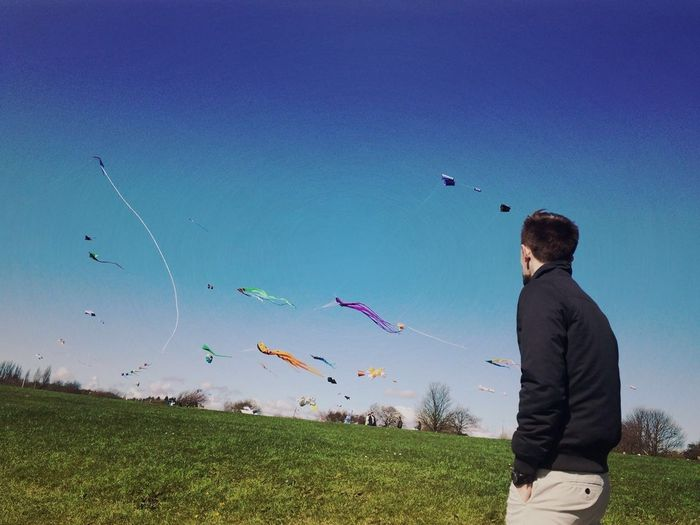 Kiteflying Kites Sun Prom Promenade Otterspool Wind