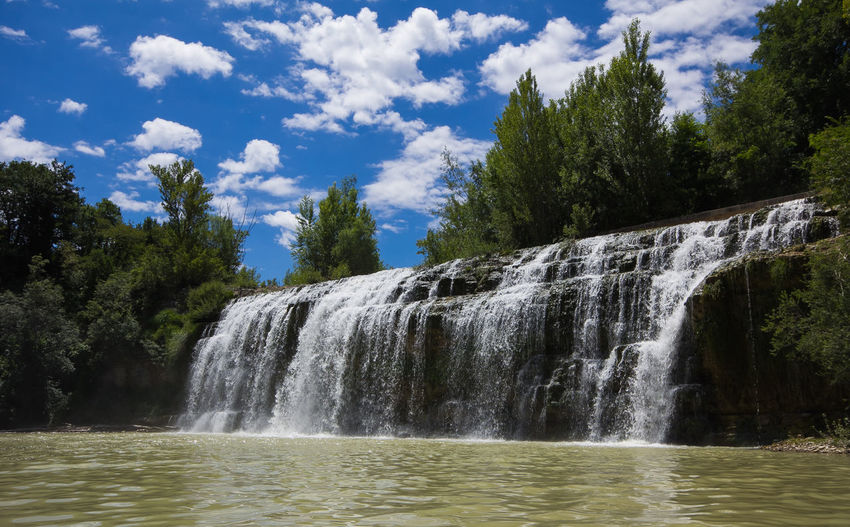 Sasso waterfall Cascata del Sasso in the marche region Landscape_Collection Nature Sant'Angelo In Vado Ambient Beauty In Nature Blurred Motion Cascata Del Sasso Cloud - Sky Europe Flowing Flowing Water Italy Landscape Marche Motion Nature No People Non-urban Scene Sasso Scenics - Nature Sky Tree Water Waterfall Waterfront