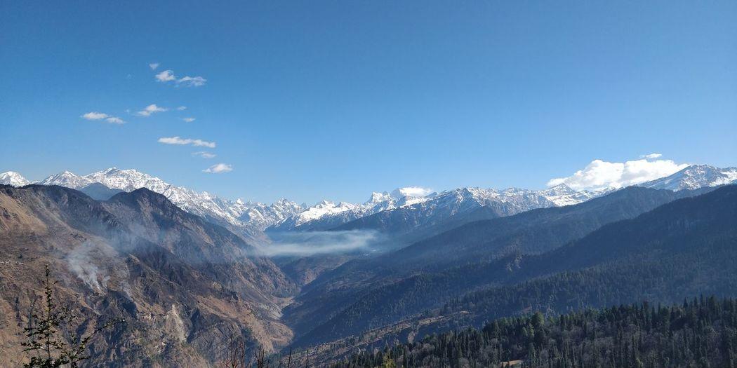 Mountains of Uttarakhand Kedarkantha Uttarakhand India Tree Mountain Snow Winter Pinaceae Blue Forest Sky Landscape Mountain Range Snowcapped Mountain Valley Snowcapped Mountain Ridge Mountain Peak