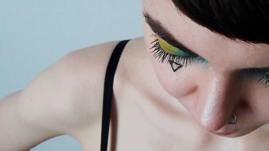 make up for gay pride Woman Who Inspire You Portrait Rainbow Colors Gay Pride Womanportrait Colors Details Young Women Beautiful Woman Headshot Beauty Close-up Pretty Eye Make-up Pink Lipstick  Mascara The Mobile Photographer - 2019 EyeEm Awards