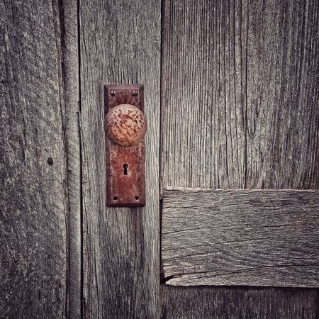 Backgrounds Brown Close-up Closed Day Detail Deterioration Door Knob Full Frame No People Old Part Of Run-down Textured  Weathered Wood Wood - Material Wooden