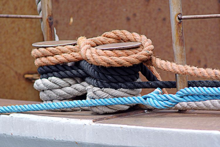 Close-up of rope on rope