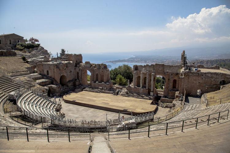 Sicilia Sicily Taormina Italia Teatro Architecture History Iliana⚓️ No People Old Ruin Taormina Sicily Travel Destinations