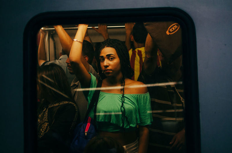 Before The Moment is Gone The Art Of Street Photography One Person Young Adult Young Women Front View Indoors  Women Lifestyles Real People Leisure Activity Portrait Reflection Beautiful Woman Mirror Fashion Casual Clothing Waist Up Adult Three Quarter Length Looking Hairstyle EyeEmbestshots EyeEm Selects Streetphotography Street Photography The Street Photographer - 2019 EyeEm Awards