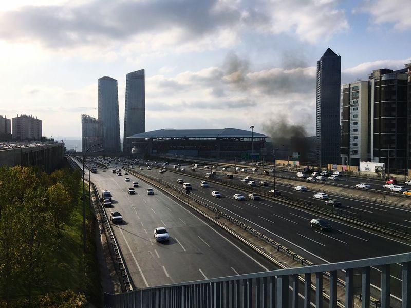 ⛱ Türk Telekom Arena - Istanbul ⛱ Football Stadium Architecture City Skyscraper Built Structure Building Exterior Road Transportation