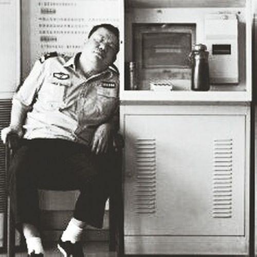 B&W Portrait always sleeping