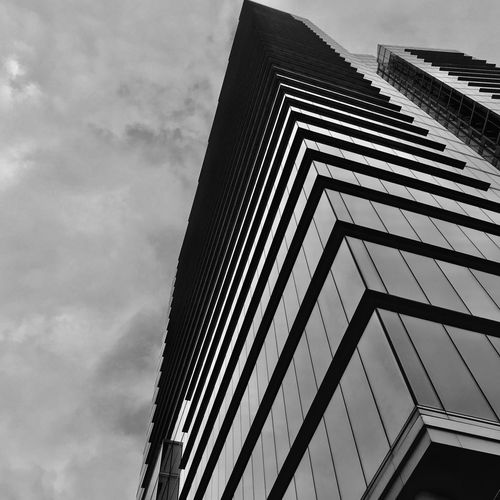 Brussels has the best buildings Brussels Architecture Brussels Kris Demey Photography Blackandwhite Low Angle View Architecture Built Structure Sky Cloud - Sky Building Exterior Day No People Nature Pattern Building Office Building Exterior Outdoors City Metal Tall - High Railing Modern Zigzag Directly Below The Architect - 2018 EyeEm Awards