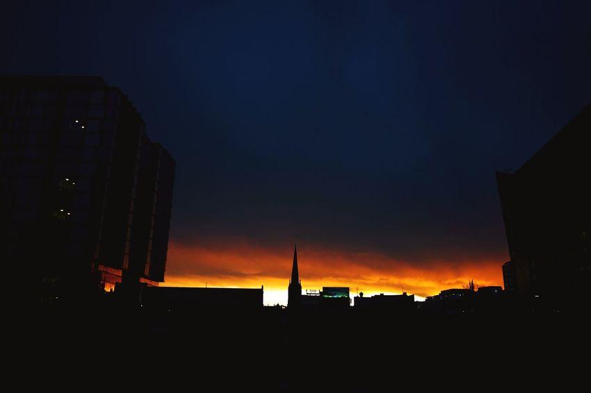 Sunset over Central Park, Sydney. Sydney Sunset Open Edit Silhouette Sunset Silhouettes