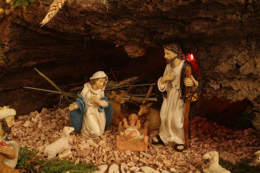 Nativity Scene, birth of Jesus Bethlehem Birth Christianity Christmas Creche Croatia Faith Family Holy Jesus Joseph Manger Nativity Peace Religion Religious  Sacred Saint Savior Spiritual Statue Virgin Mary Worship