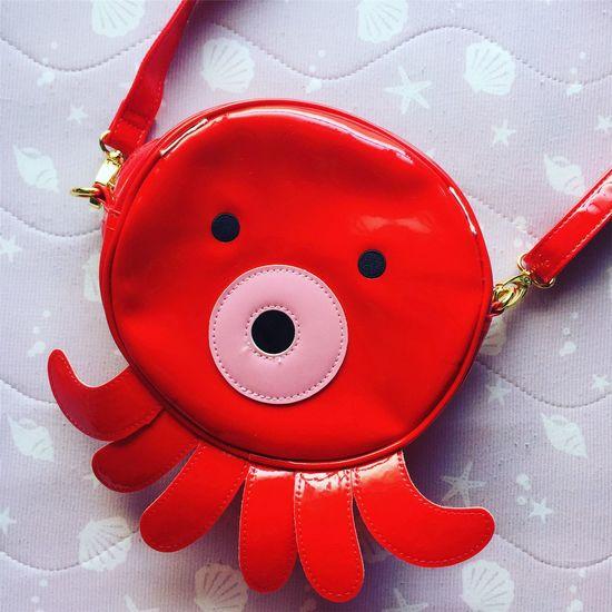 Red Octopus Kraken Bag Tasche KAWAII 蛸 Japan Pvc Buy Einkaufen Mein Mine Favorite Pochette  Tako Pink New Neu