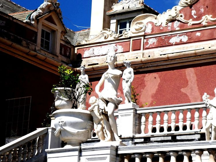 Genova Roof Human Representation Art And Craft Architecture Building Exterior Sky Built Structure Sculpted Palace