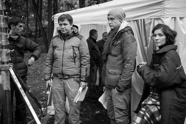 Shooting movie)) I love my job) MOVIE