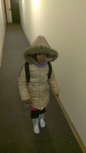 my baby girl off to school