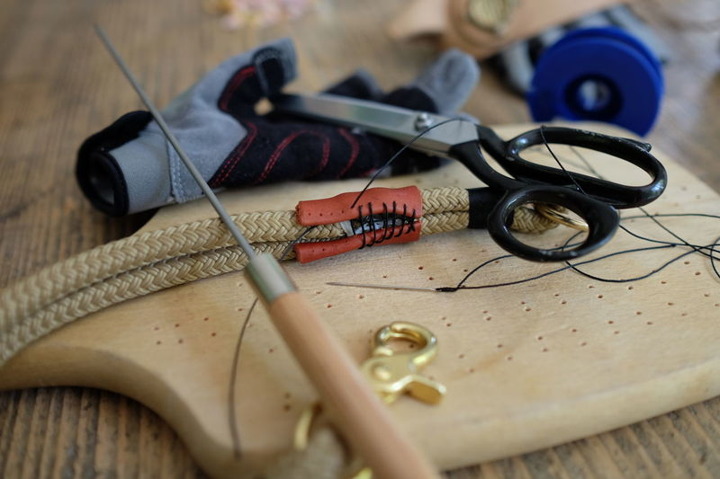 Self-made. Craft Trade Handcraft Leather Sewing No Filter Nofilter Leder Sailing Segeln Handwerk Nähen Tauwerk