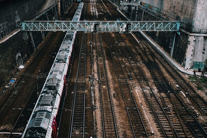 Investing In Quality Of Life Transportation Train - Vehicle Rail Transportation Railroad Track High Angle View Public Transportation Travel Outdoors No People The Week On EyeEm EyeEmNewHere City Paris EyeEmNewHere EyeEmNewHere The Week On EyeEm The Week On EyeEm
