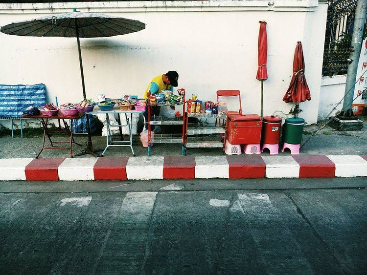 Street Adapted To The City The City Light Outdoors Adapted To City Background Street Merchant Roadside Man Colors Thailand Street Shop Life Modern City Life EyeEmNewHere People One Person Lifestyles