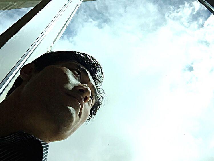 Self Portrait Around The World Upupandaway Palmsprings Morongocasino Clouds And Sky