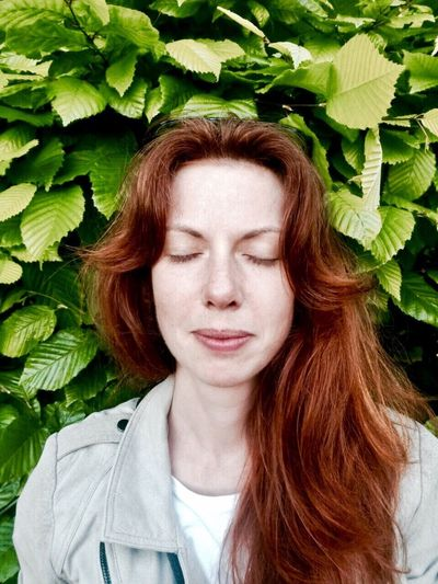 Close your eyes Redhead Redhairedgirl Self Portrait Selfie ✌ Leaf Only Women Adults Only One Woman Only Green Color Front View Eyes Closed  One Person Young Adult Long Hair Headshot One Young Woman Only Adult Plant People Beautiful Woman Portrait Young Women Close-up Outdoors EyeEmNewHere Women Around The World TCPM The Portraitist - 2017 EyeEm Awards