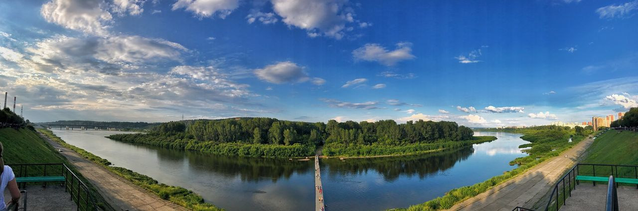 Sky Scenics Water Beauty In Nature Tranquil Scene Cloud - Sky Tranquility Nature No People Reflection Tree Outdoors Lake Day Fish-eye Lens