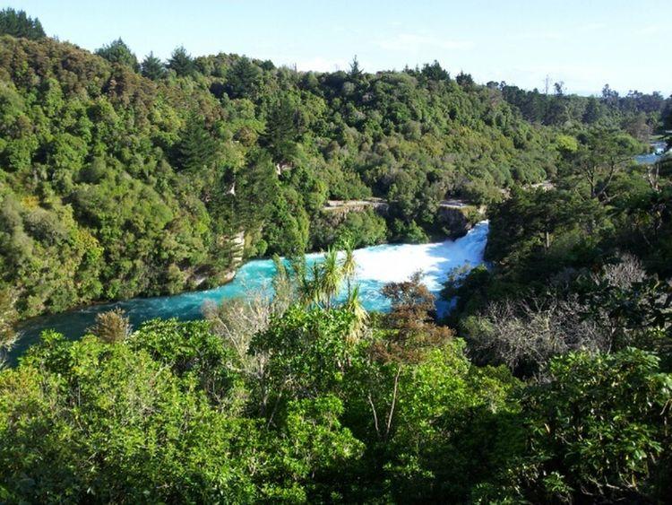 Rotorua New Zealand Huka Falls Enjoying The View Sunny
