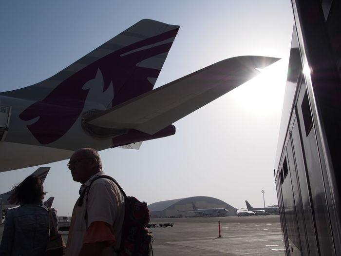 Lifestyles Travel Travel Photography Qatar Qatarairways Transportation Airport Airplane Traveling Life Sunlight Wings First Eyeem Photo