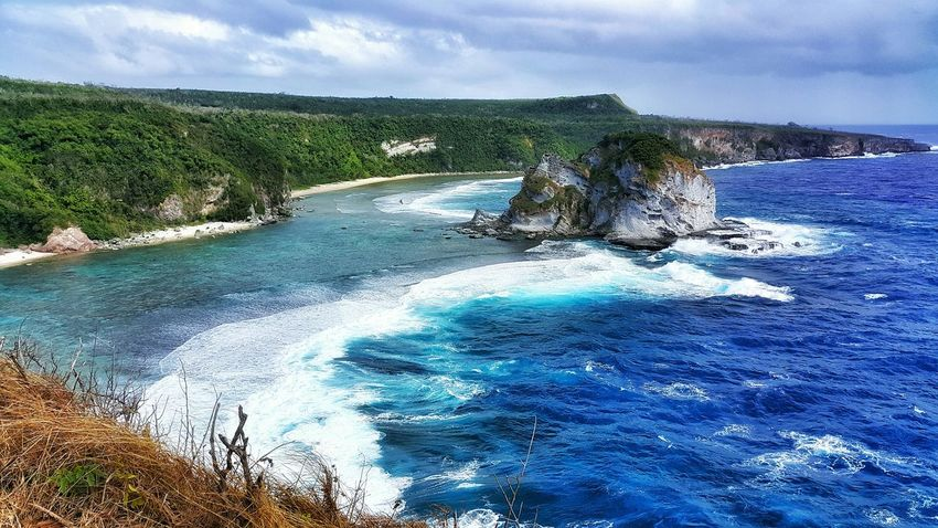 Saipan Photos Bird Island Landscape Blue Colors Waves Ocean View Nature Traveling Blue Wave Samsung Galaxy Note 4 Taking Photos Eye4photography  Streamzoofamily People Of The Oceans The Great Outdoors - 2016 EyeEm Awards