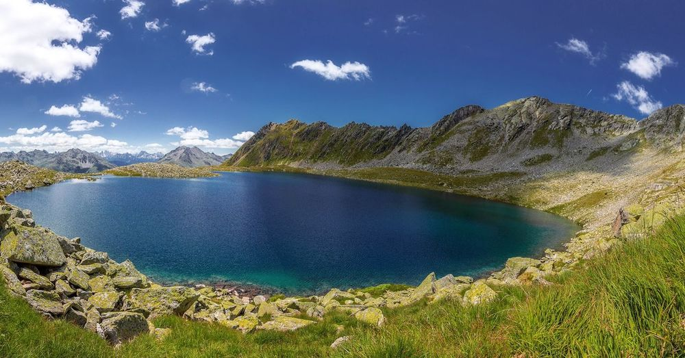 Oberseitsee Love Dream Beautiful Nature Hiking Wandern Defereggental Oberseitsee Water Sky Beauty In Nature Tranquility Scenics - Nature Tranquil Scene Plant Cloud - Sky Nature Blue No People Sunlight Day Idyllic Non-urban Scene Lake Mountain Land Outdoors