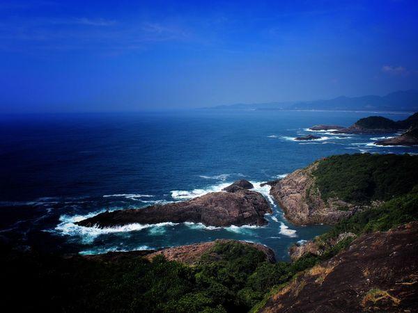 Sea Water Beauty In Nature No People Tranquil Scene Cross Blue Wave Miyazaki, Japan Miyazaki Japan