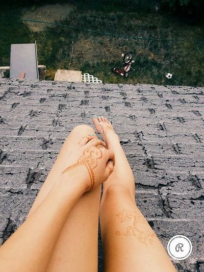 Barefoot Day Henna Lifestyles Outdoors Personal Perspective Relaxation Relaxing Rooftop View