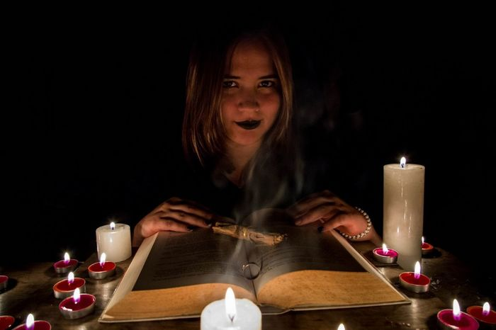Witches Witchlife Only Women Spirituality Night People Tea Light Females Illuminated Candle Burning Flame One Person