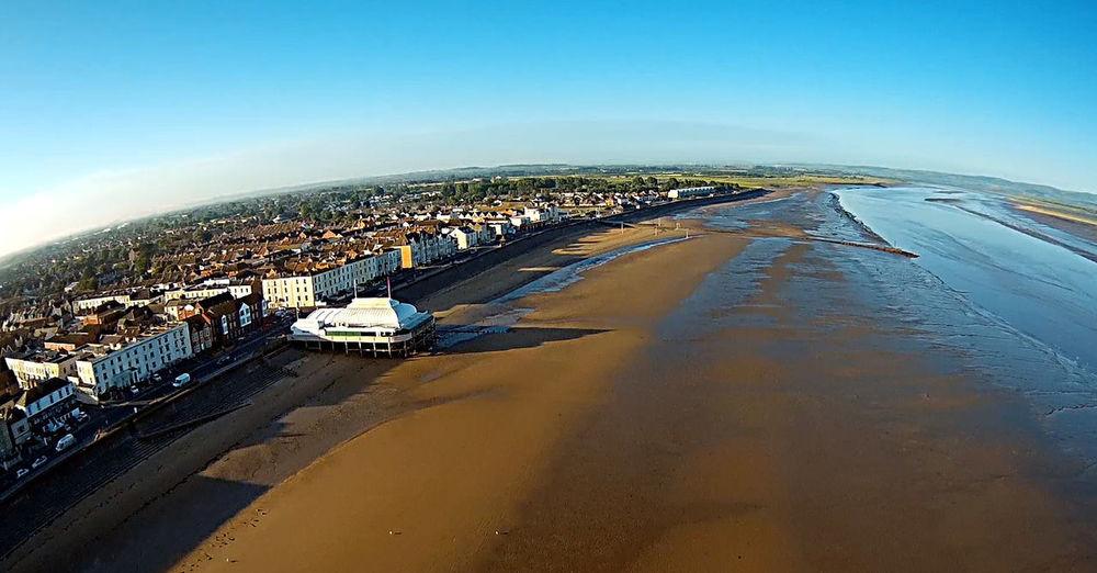 Aerial View Beach Beachphotography Burnham On Sea Landscape Pavilion Sand Sea Somerset Water