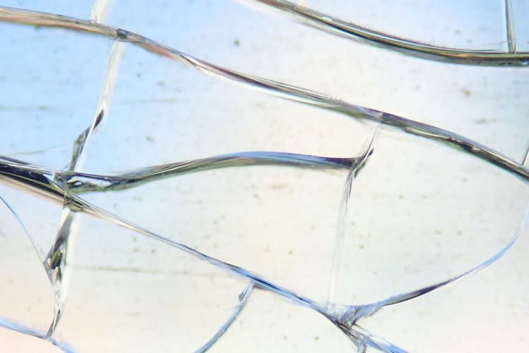 High angle view of glass of water