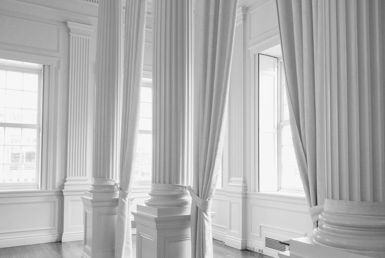 columns and curtains. Black And White Curtain Window Indoors  Architectural Column Architecture Close-up Drapes  Day No People The Architect - 2017 EyeEm Awards Light And Shadow Low Contrast Hartford, Connecticut Historic Building Neighborhood Map Black And White Friday
