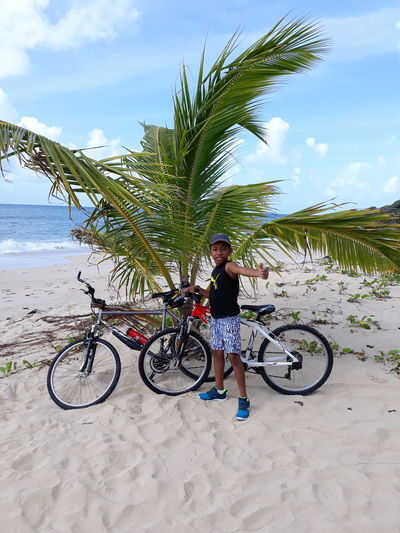JANVIER 0905 Tree Full Length Headwear Child Beach Bicycle Sea Childhood Cycling Sky Mountain Bike Sand Biker Riding Moving