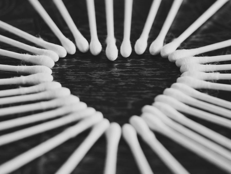 Q Q-tips Heart Creative World Close Up Closeup Creative Close-up Ideas Creativity Perspective Photography Q-tip Macro B&w Black And White Black & White Blackandwhite Black&white Pivotal Ideas