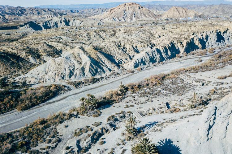 DJI X Eyeem Desert Wild West Aerial View Day Desert Landscape Landscape Mountain Mountain Range Nature No People Outdoors Sand Scenics Snow Tabernas Desert Tundra Western