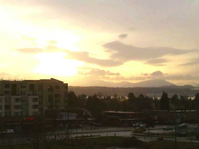Sunrise I Love My City After The Rain Sky Clouds Seattle Washington South Seattle