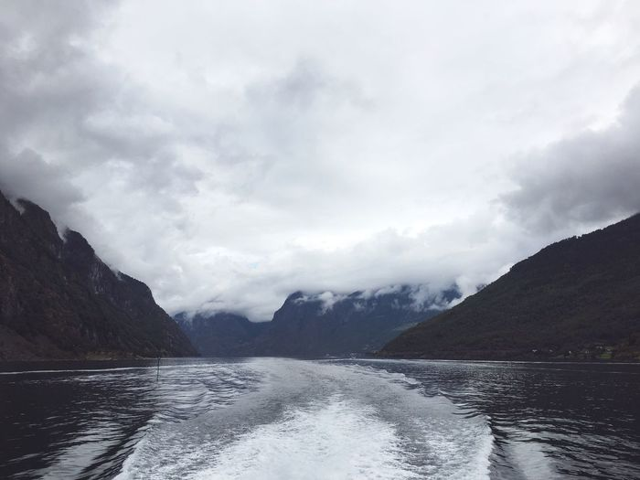 Nature Mountain Water Ferry Beauty In Nature Norway Fjord